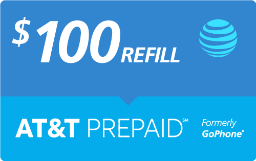 $95.00 AT&T Go Phone® Real Time Refill Minutes