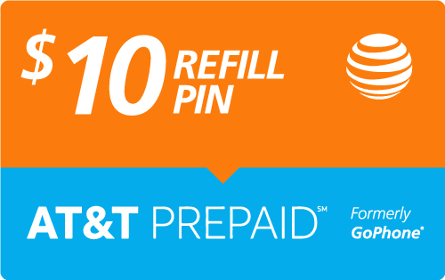 $9.95 AT&T Go Phone® Refill Minutes Instant Prepaid Airtime