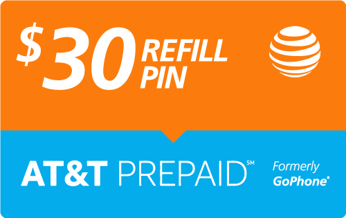 $29.89 AT&T Go Phone® Refill Minutes Instant Prepaid Airtime