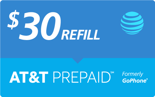 $28.50 AT&T Go Phone® Real Time Refill Minutes