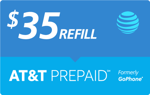$33.25 AT&T Go Phone® Real Time Refill Minutes