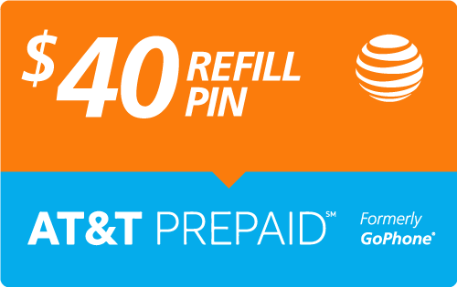 $39.89 AT&T Go Phone® Refill Minutes Instant Prepaid Airtime