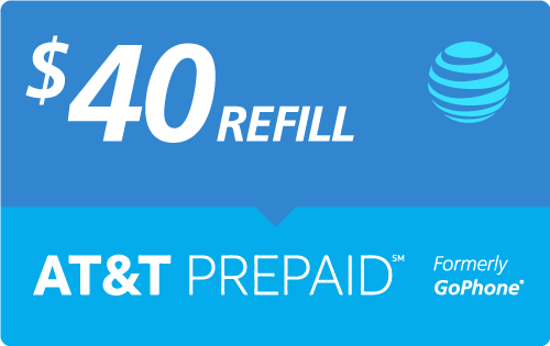 $38.00 AT&T Go Phone® Real Time Refill Minutes