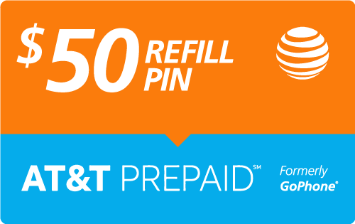 $49.78 AT&T Go Phone® Refill Minutes Instant Prepaid Airtime