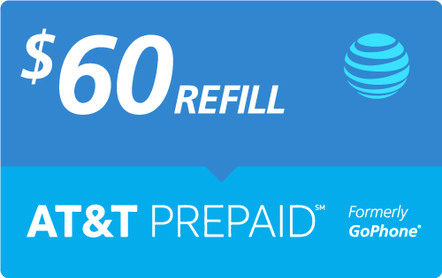 $57.00 AT&T Go Phone® Real Time Refill Minutes