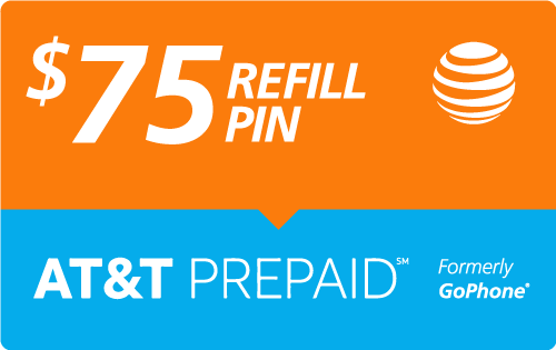 Buy the $75.00 AT&T PREPAID℠ Refill Minutes Instant Prepaid Airtime | On SALE for Only $71.25