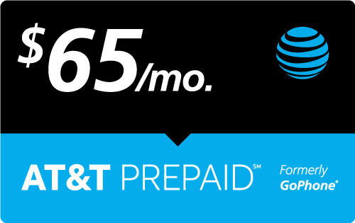 $64.93 AT&T PREPAID℠ Real Time Refill Minutes