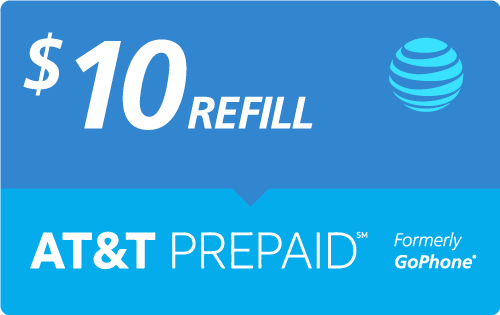 $9.99 AT&T PREPAID℠ Real Time Refill Minutes