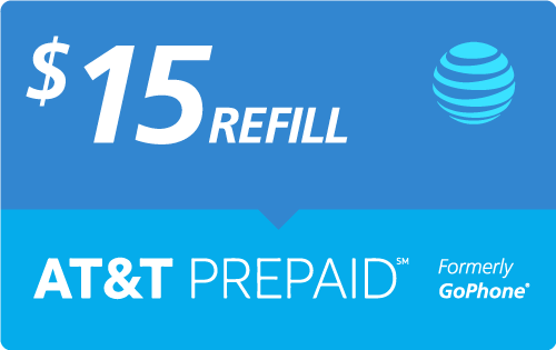 $14.98 AT&T PREPAID℠ Real Time Refill Minutes