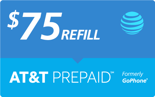 $74.93 AT&T PREPAID℠ Real Time Refill Minutes