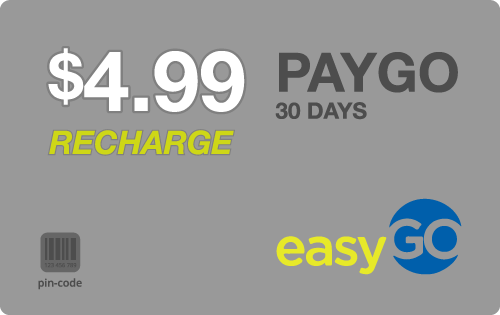 $4.95 EasyGo Wireless® Refill Minutes Instant Prepaid Airtime