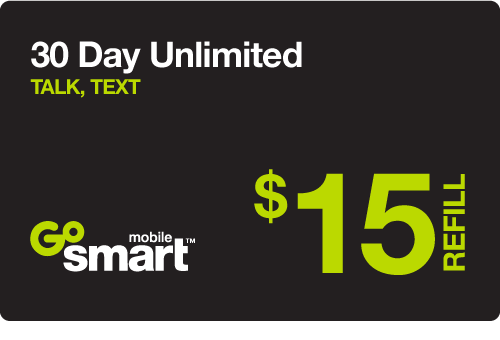 $14.95 GoSmart Mobile® Real Time Refill Minutes