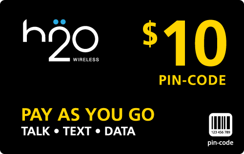 Buy the $10.00 H2O Wireless® Refill Minutes Instant Prepaid Airtime | On SALE for Only $9.99