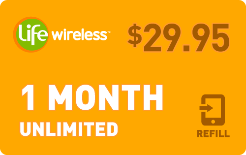 $29.65 Life Wireless® Refill Minutes Instant Prepaid Airtime