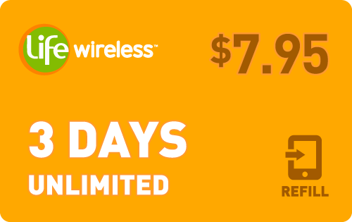 $7.85 Life Wireless® Refill Minutes Instant Prepaid Airtime