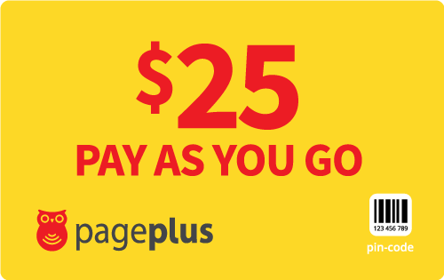 $25.00 Page Plus® Refill Minutes Instant Prepaid Airtime