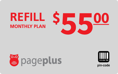 $55.00 Page Plus® Refill Minutes Instant Prepaid Airtime