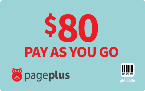 $80.00 Page Plus® Refill Minutes Instant Prepaid Airtime