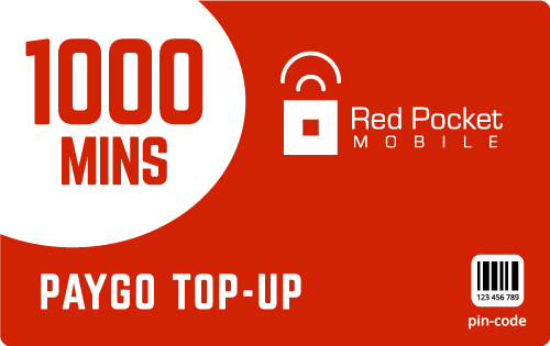 Buy the $100.00 Red Pocket® Refill Minutes Instant Prepaid Airtime | On SALE for Only $98.99