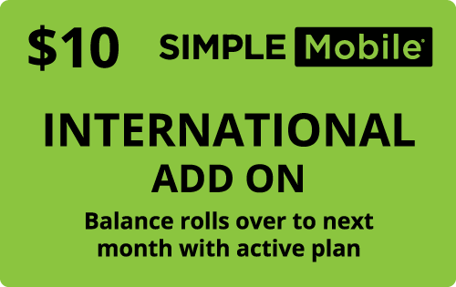 $10.00 Simple Mobile® Refill Minutes Instant Prepaid Airtime