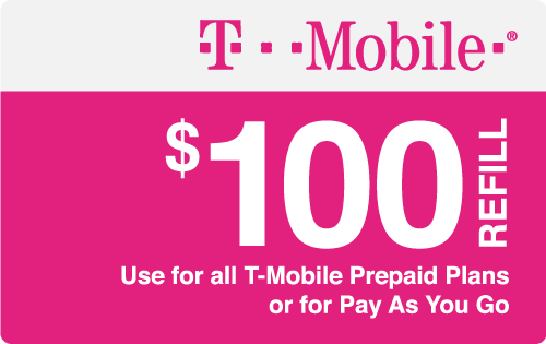 $100.00 T-Mobile® Real Time Refill Minutes