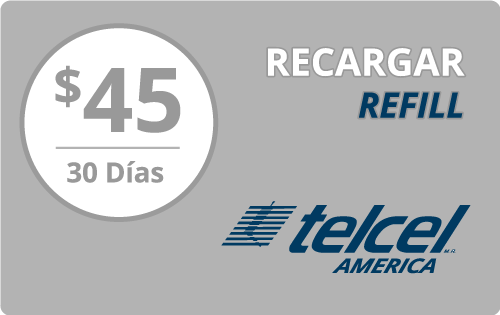 $40.00 Telcel America® Refill Minutes Instant Prepaid Airtime
