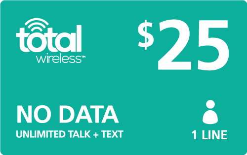 $25.00 Total Wireless® Refill Minutes Instant Prepaid Airtime