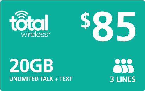 $85.00 Total Wireless® Refill Minutes Instant Prepaid Airtime