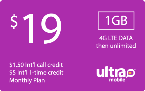 $18.99 Ultra Mobile® Real Time Refill Minutes