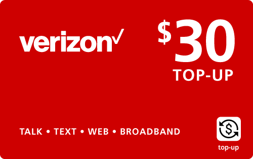 Buy the $30.00 Verizon Wireless® Real Time Refill Minutes | On SALE for Only $29.89