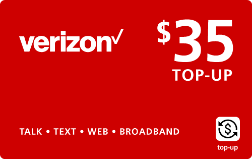$34.89 Verizon Wireless® Real Time Refill Minutes