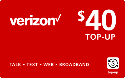 $39.89 Verizon Wireless® Real Time Refill Minutes