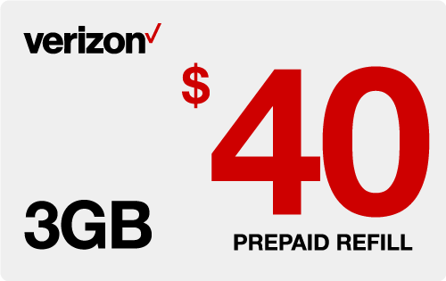 $39.75 Verizon Wireless® Real Time Refill Minutes