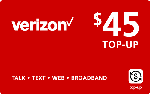 Buy the $45.00 Verizon Wireless® Real Time Refill Minutes | On SALE for Only $44.89