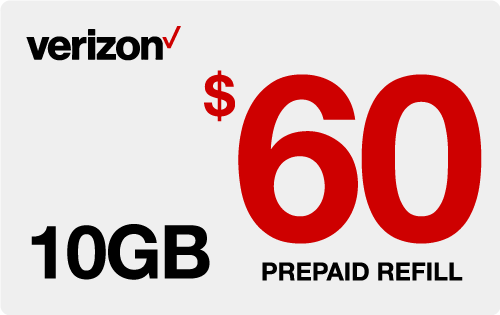 $59.69 Verizon Wireless® Real Time Refill Minutes