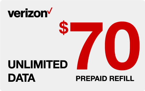 $69.68 Verizon Wireless® Real Time Refill Minutes
